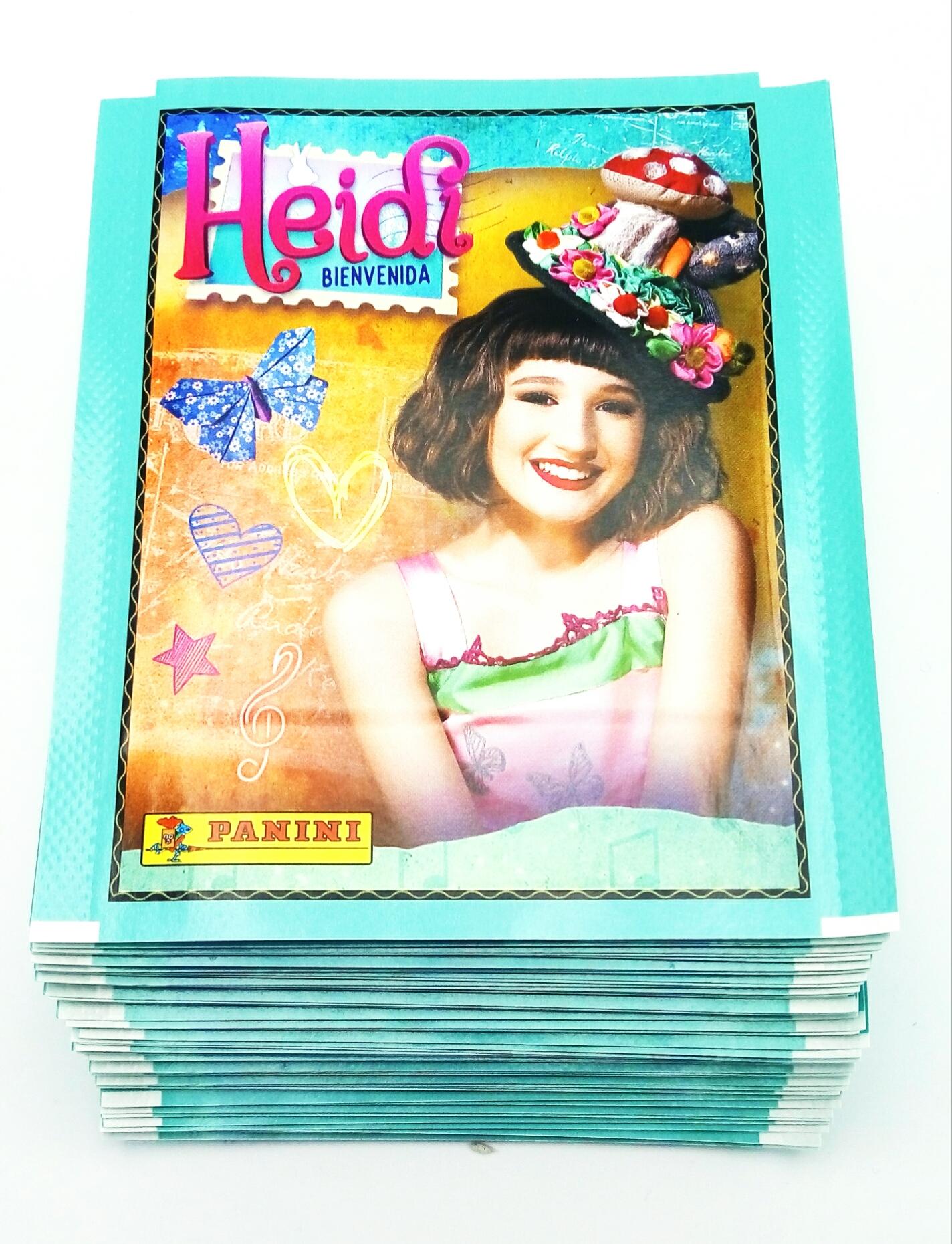 Heidi Bienvenida 50 bustine figurine Panini Versione Promo album tuten Pack