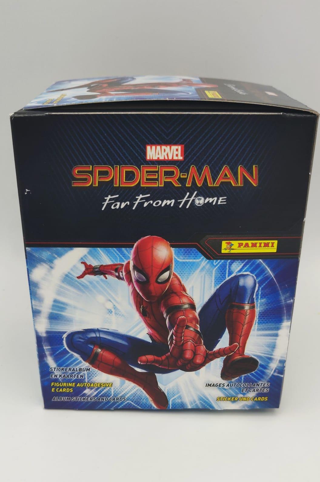 SPIDERMAN FAR FROM HOME Box 36 bustine figurine Panini 2019