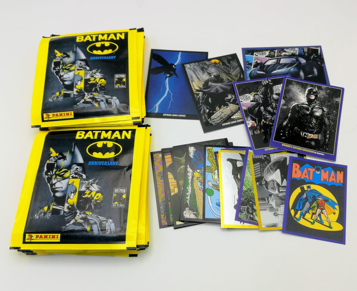 Batman 80 anniversario 50 bustine figurine sigillate da box v Promo Panini