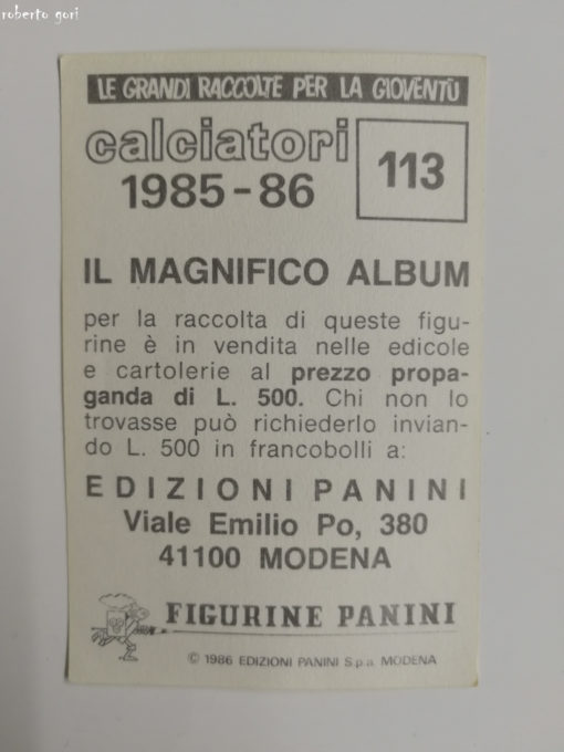 FIORENTINA NUOVA N.131 SQUADRA FIGURINA CALCIATORI PANINI 1986//87