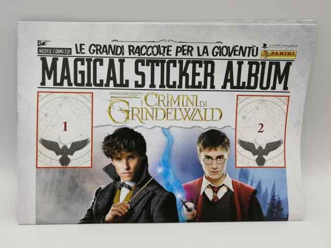 PANINI The crimes of Grindelwald empty sticker album.
