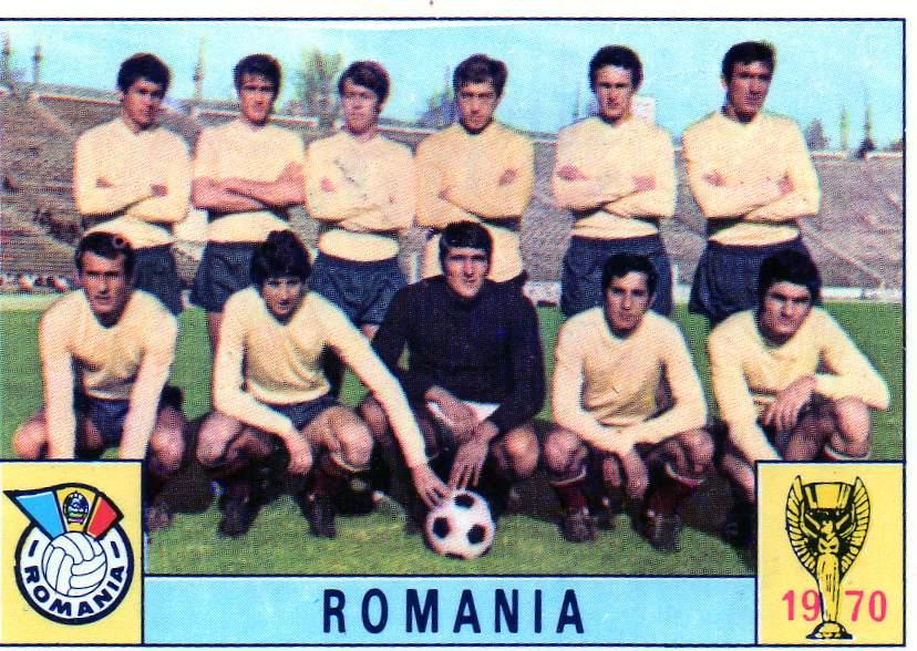 ROMANIA FIGURINA CALCIATORI PANINI MEXICO 70 DAN