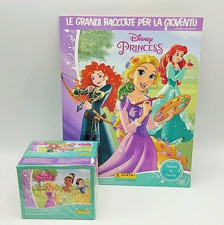 ALBUM BOX 50 Bustine DISNEY PRINCESS TALENTI DA FAVOLA PRINCIPESSE PANINI