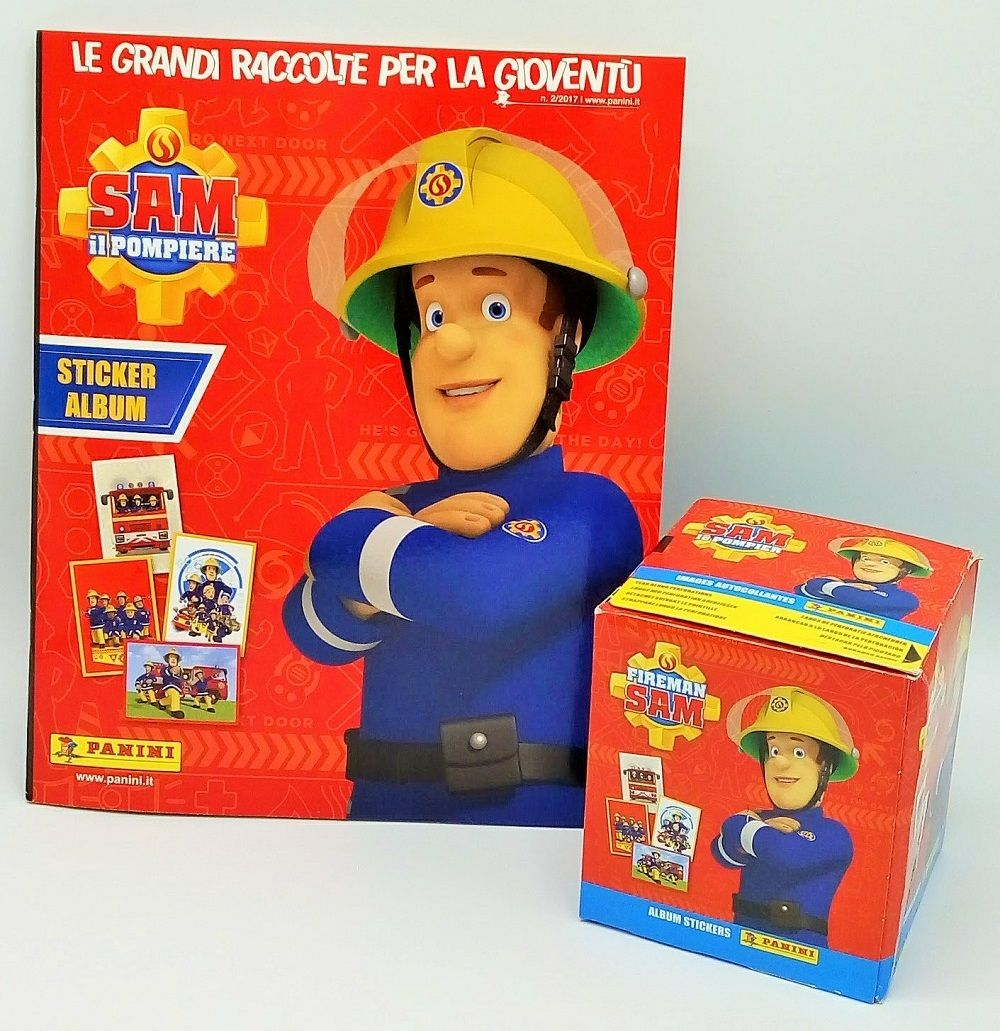 Figurines Panini Album Box 50 Packs Sam The Firefighter Fireman