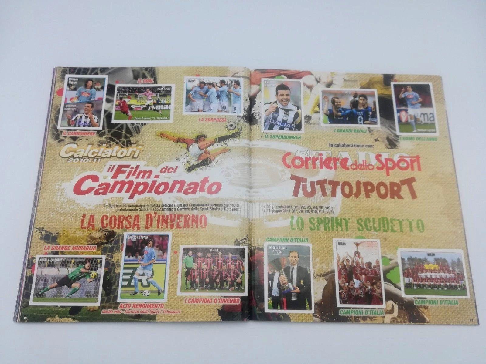 BUSTINA SIGILLATA FIGURINE PANINI FILM DEL CAMPIONATO 2010-11 SPRINT SCUDETTO