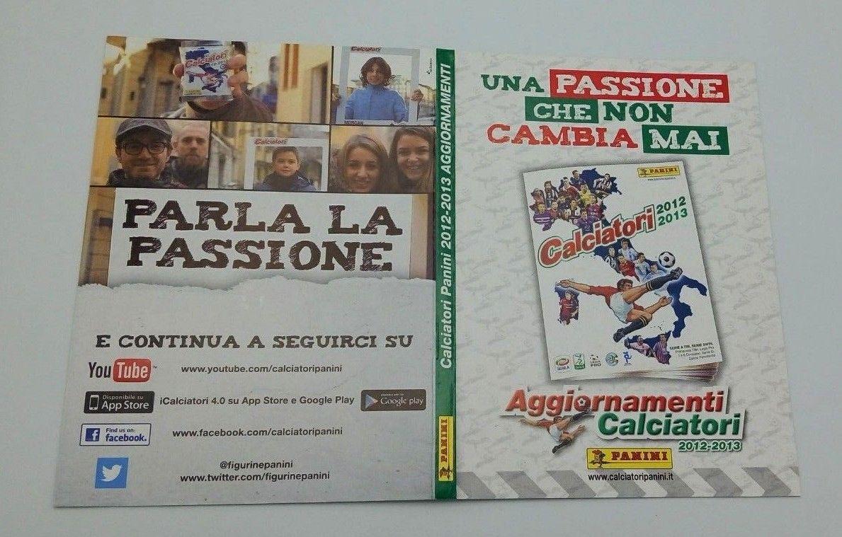 Album Calciatori 2012 2013 set completo aggiornamento e film campionato panini