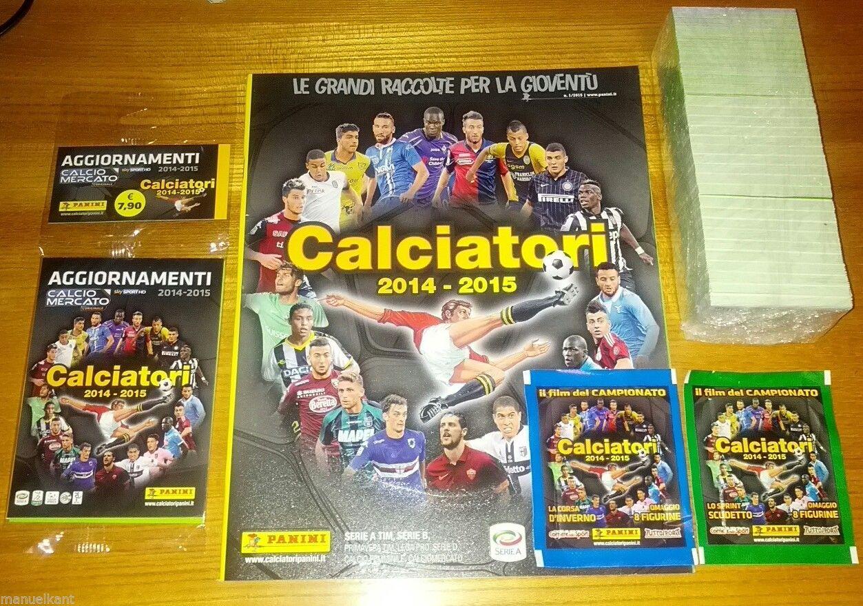 Album Calciatori 2014 2015 set completo aggiornamento e film campionato panini