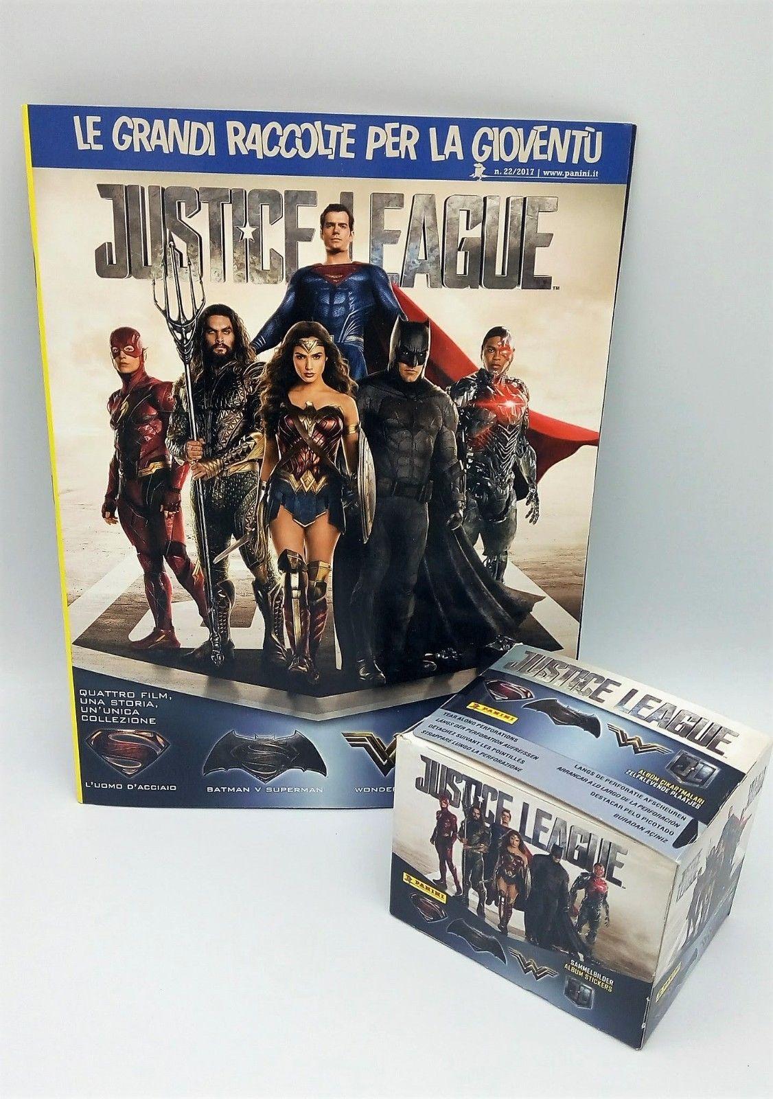 BOX 50 Bustine JUSTICE LEAGUE JUSTICIA packets figurine Stickers PANINI ALBUM